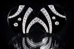 Pair of Jean Vitau GemLok Earrings