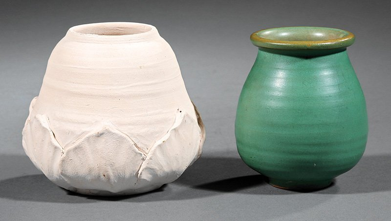 Two Newcomb College Art Pottery Vases