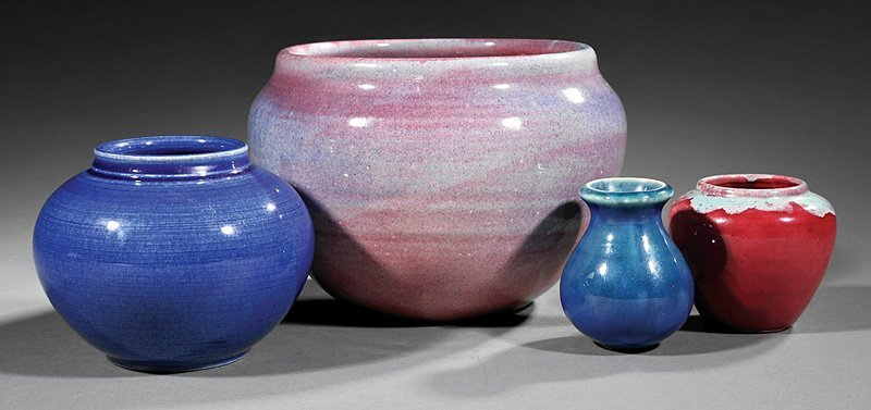 Four Paul Cox New Orleans Pottery Vessels