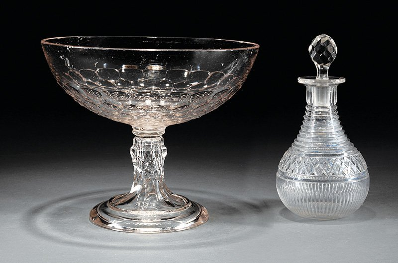 Flint Glass Centerpiece Pedestal Bowl
