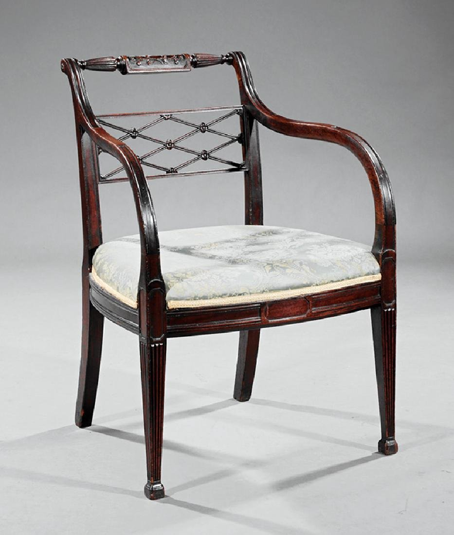 George III Carved Mahogany Armchair