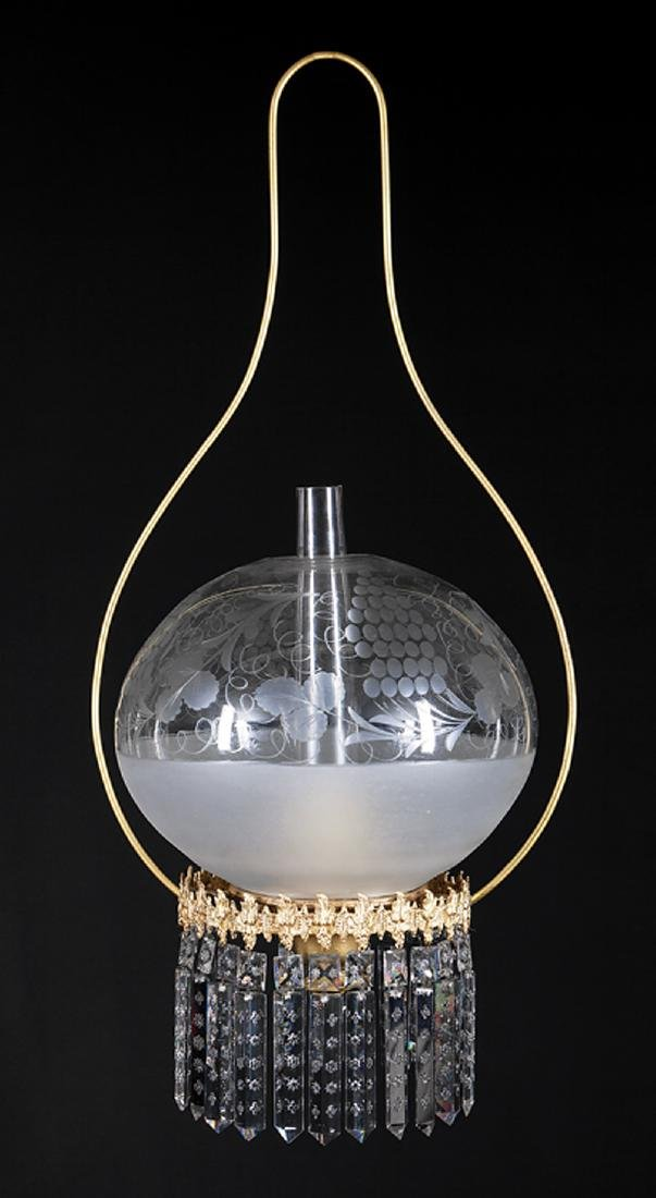 Solar Harp Chandelier, marked Starr, Fellows & Co