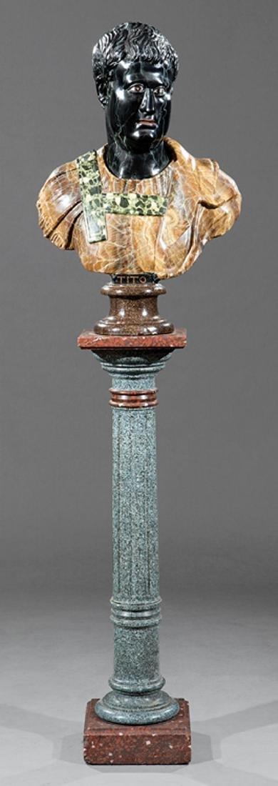 Scagliola Bust of Emperor Titus