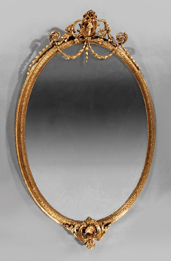 Carved Giltwood Mirror stamped John Taylor & Sons