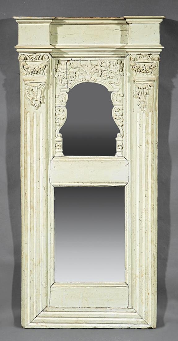 Continental Carved and Painted Pier Mirror