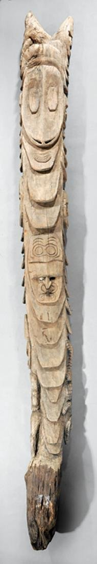 Oceanic Carved Wood House Post