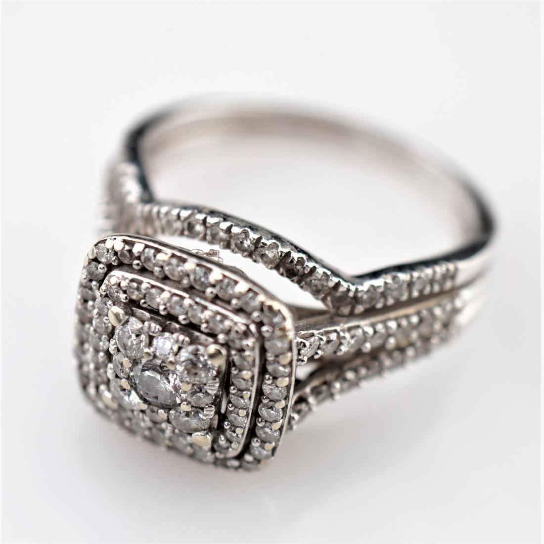 14k WG 2CTTW White Diamond Ring sz 7.5