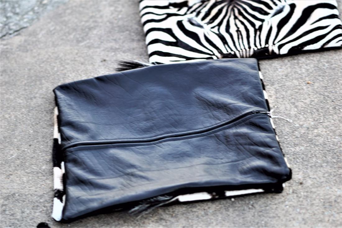 """Group of 3 Zebra Skin Pillow Cases 17""""x17"""" - 5"""