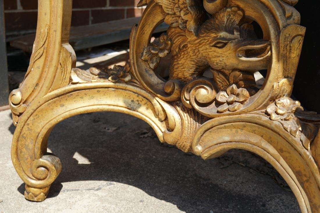 Giltwood Carved Wall Table with Marble Top - 4