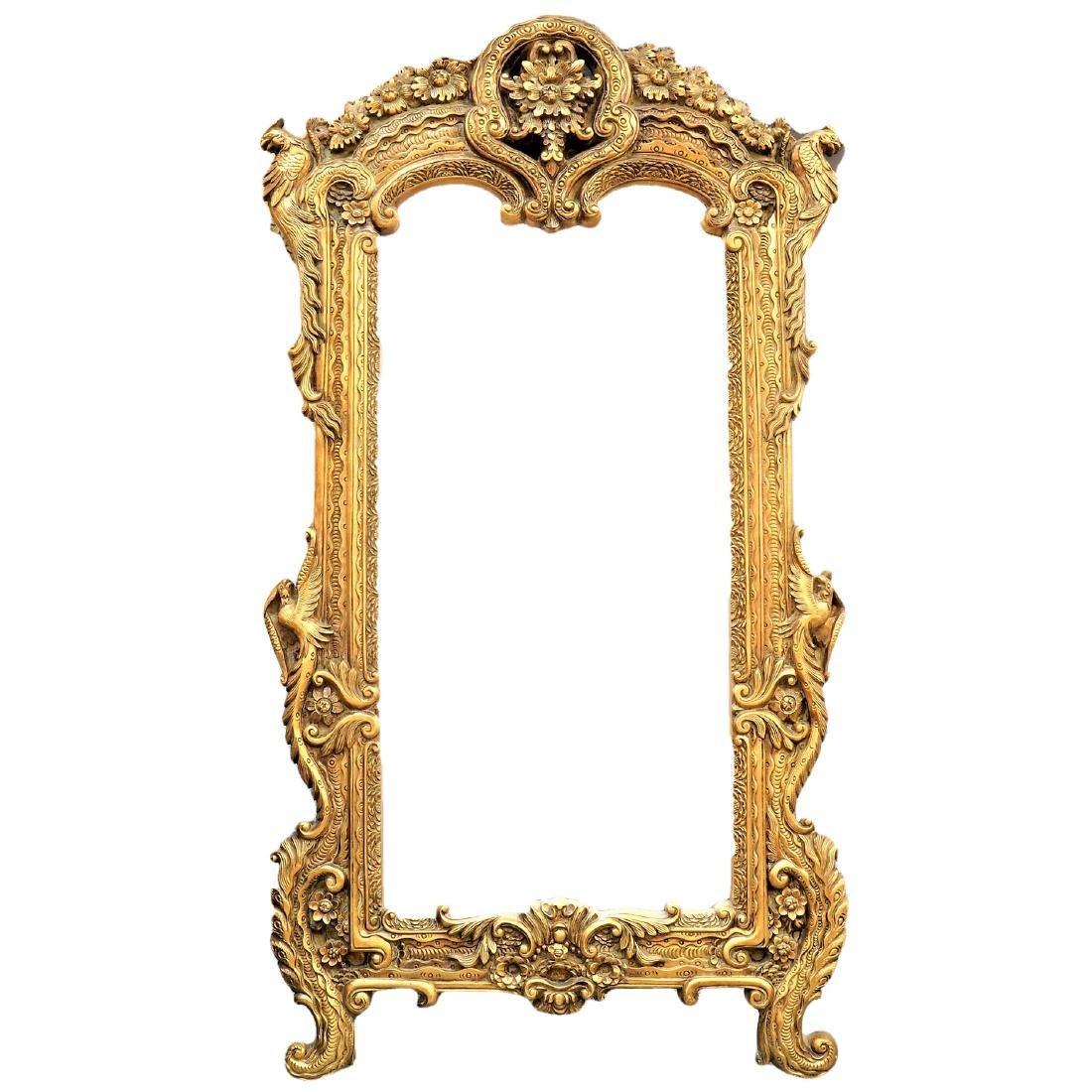 """Massive Peacock Mirror 7' x 3'9"""""""