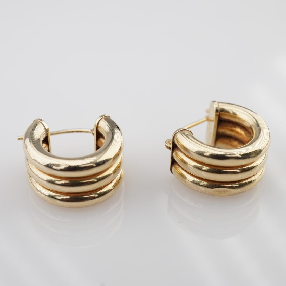 14k YG Hoop Earrings 2.24 grams