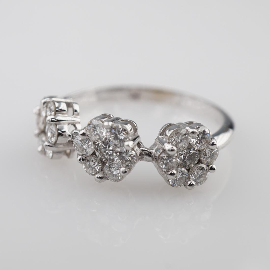 14k YG 1ct White Diamond E-F Color Ring sz 6.75