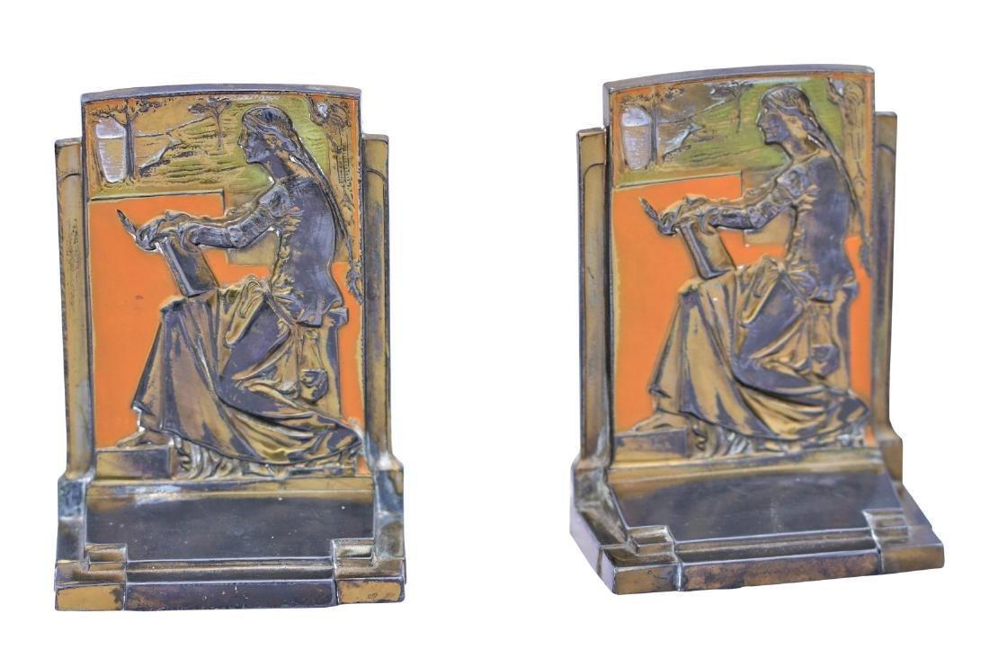 Pompeian Bronze Co. Antique Bookends