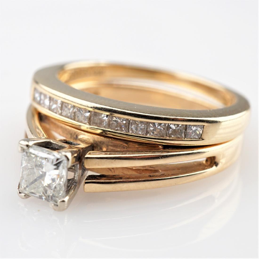 14k YG/WG Diamond Engagement Ring sz5