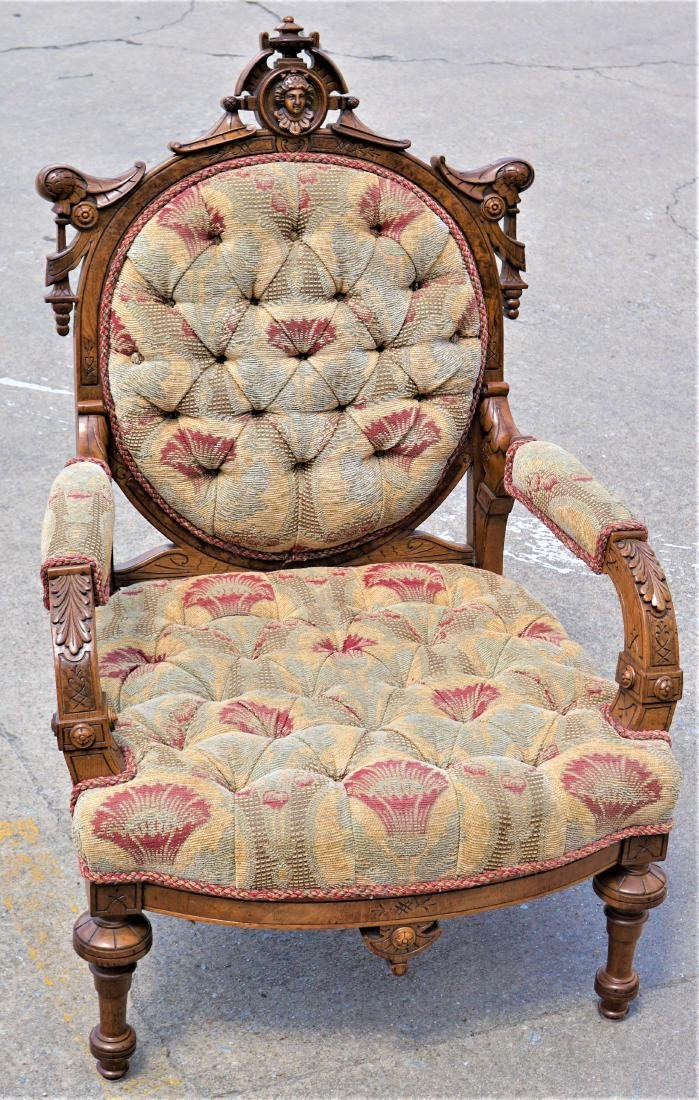 Tufted Fabric Armchair