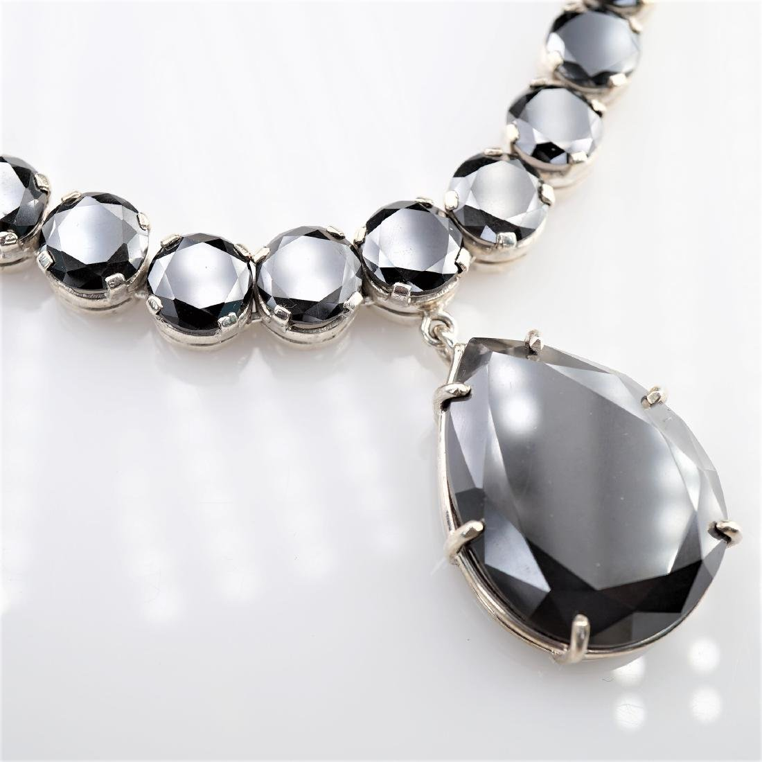 140 CTTW Black Diamond Necklace