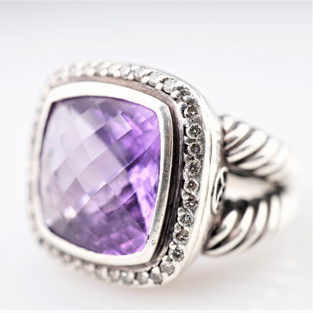 David Yurman 925 Amethyst Ring sz 7