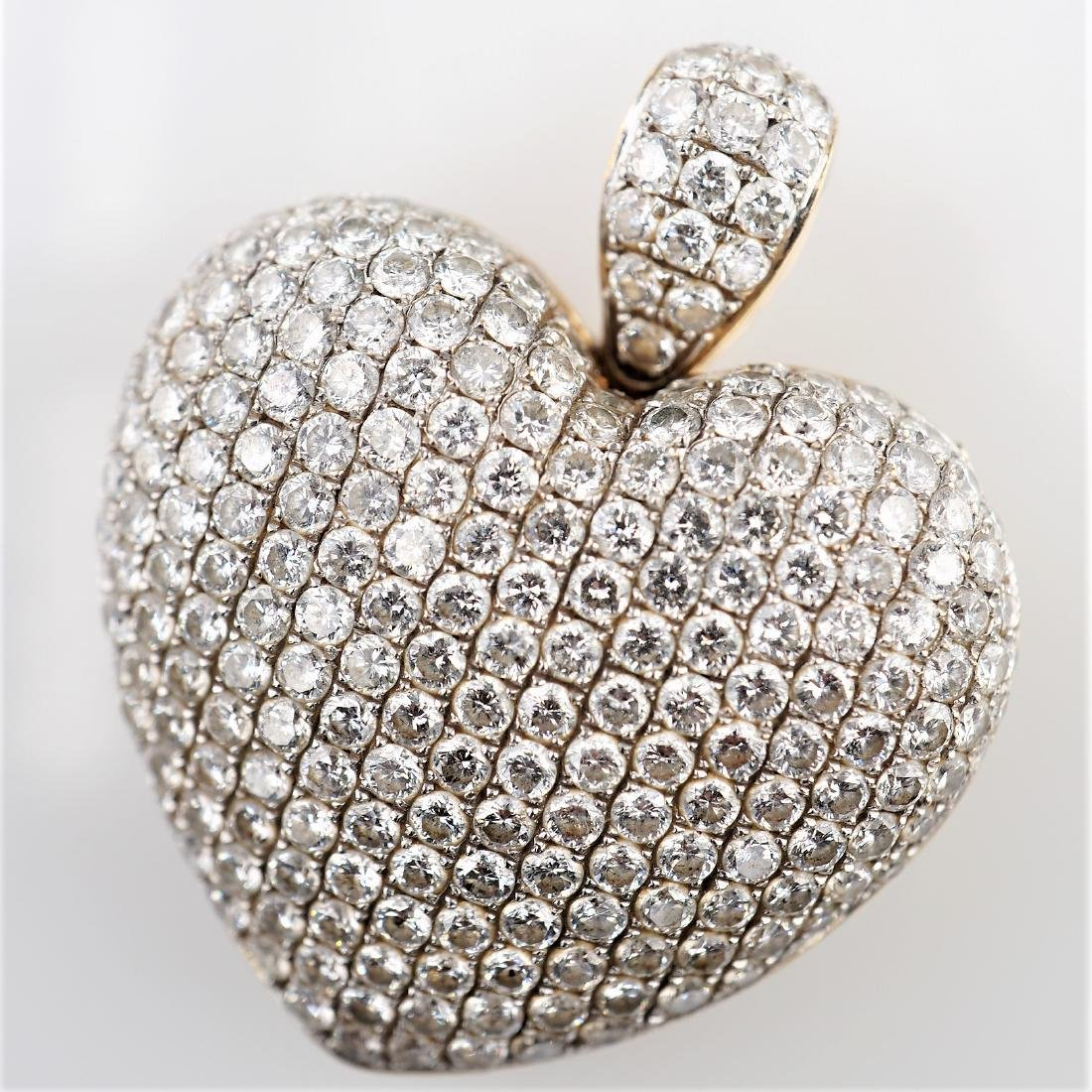 3 CTTW White Diamond Pendant in YG