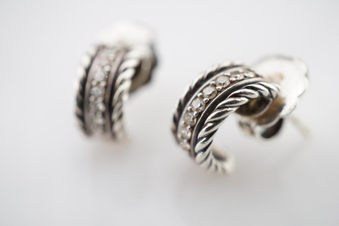 David Yurman Braided Rope Pattern Earrings with