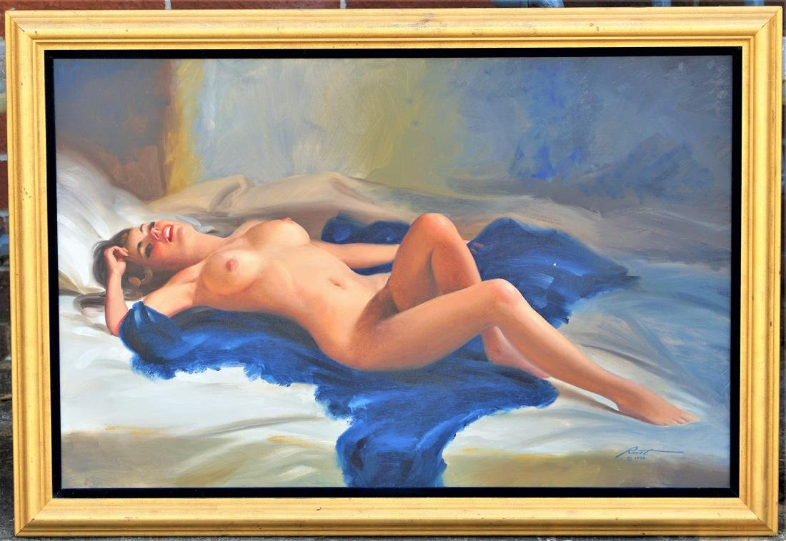 Donald Rust American (1934-) Oil on Canvas Pinup