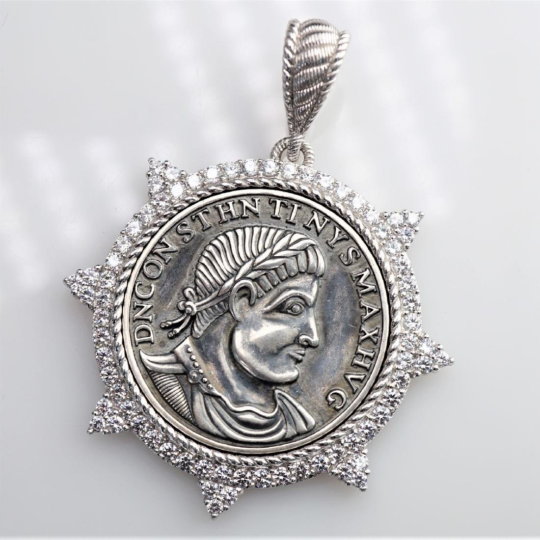 Judith Ripka Sterling Silver Pendant
