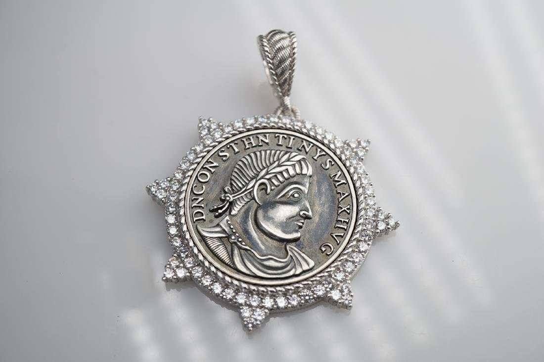 Judith Ripka Sterling Silver Pendant - 3