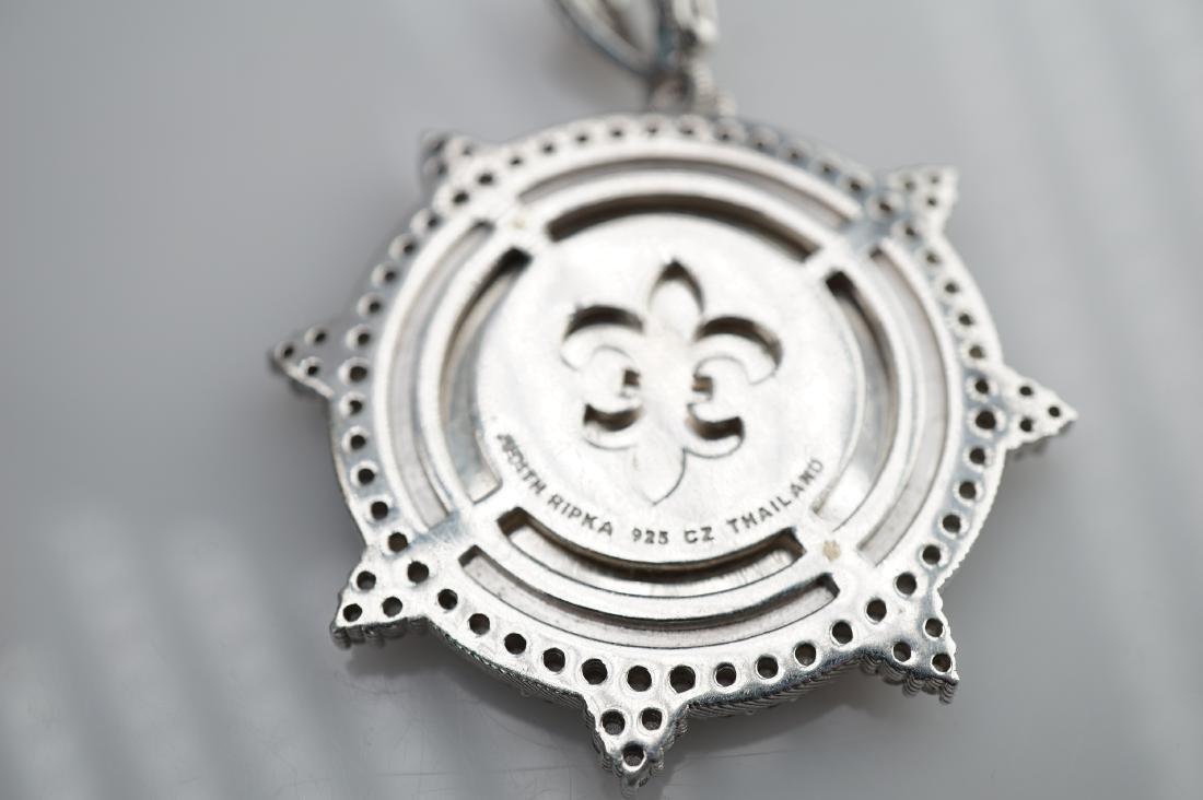 Judith Ripka Sterling Silver Pendant - 4