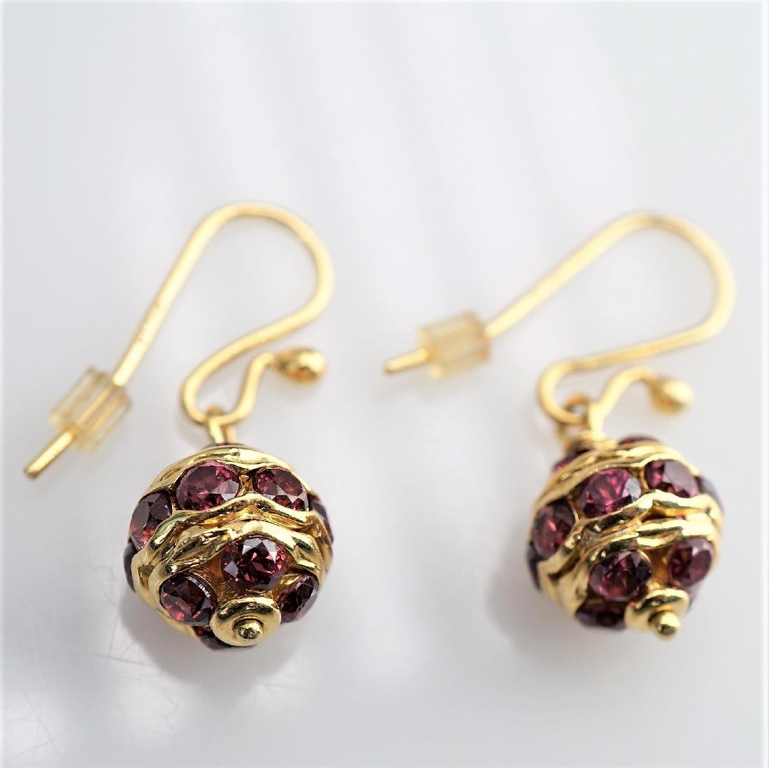 14k YG Ruby Earrings