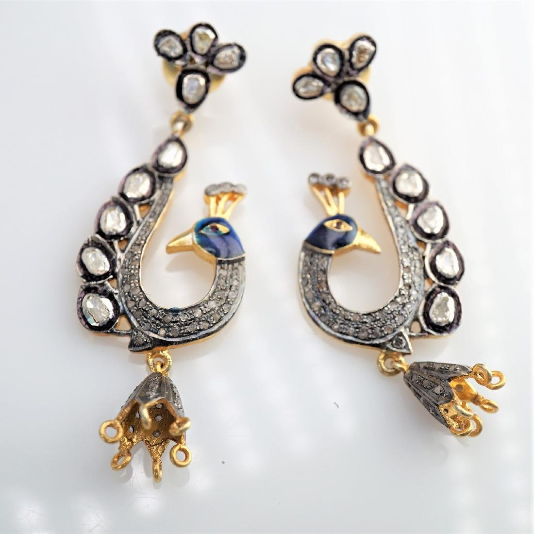 3.80 CTTW Peacock Earring Set