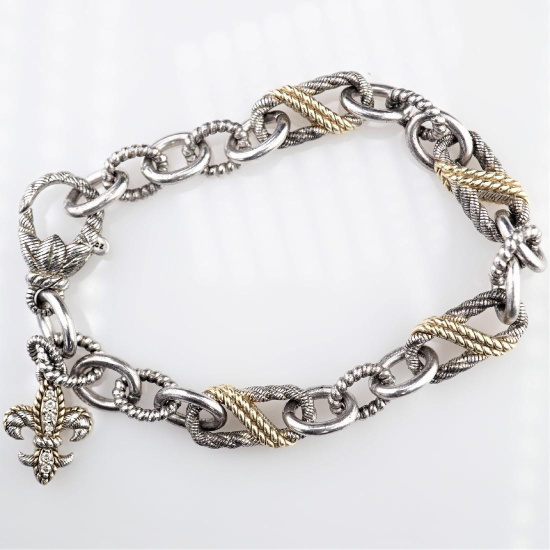 Judith Ripka Sterling Silver Chain Bracelet