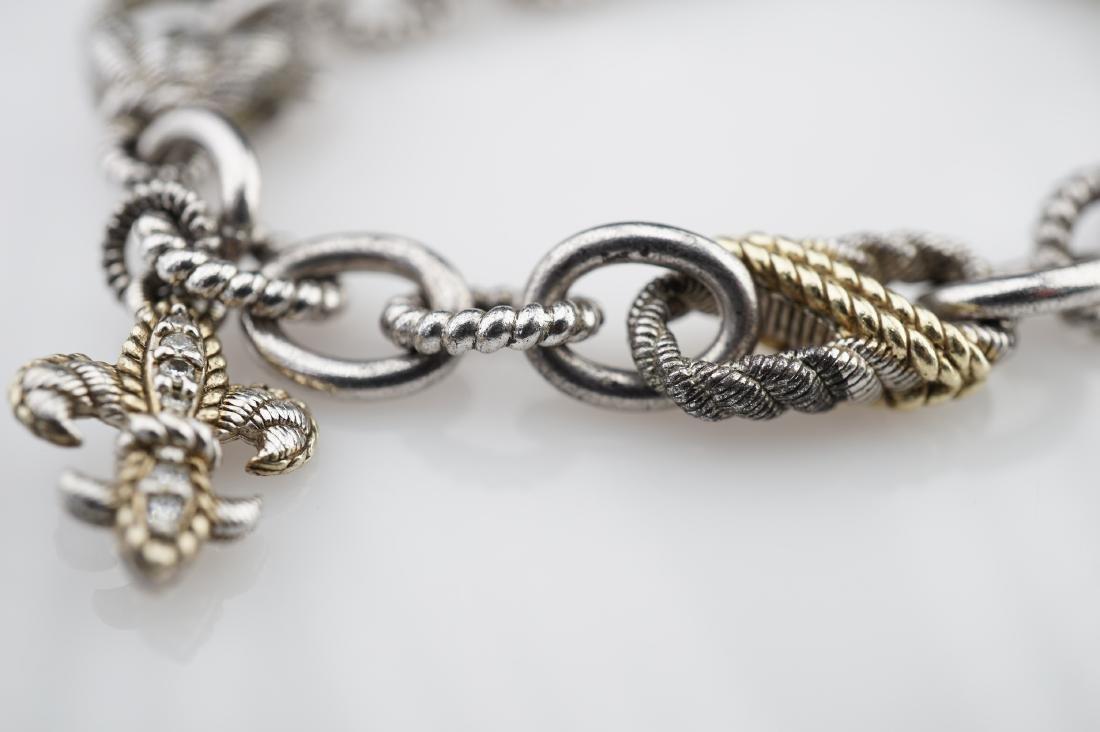 Judith Ripka Sterling Silver Chain Bracelet - 3
