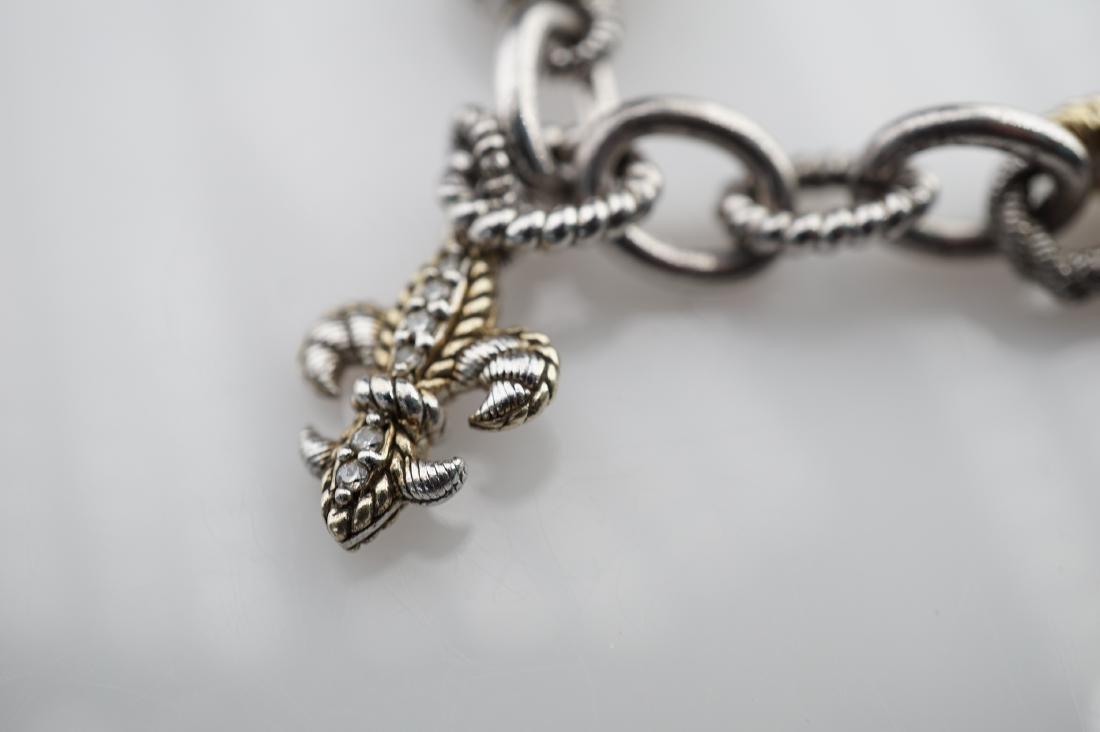 Judith Ripka Sterling Silver Chain Bracelet - 4