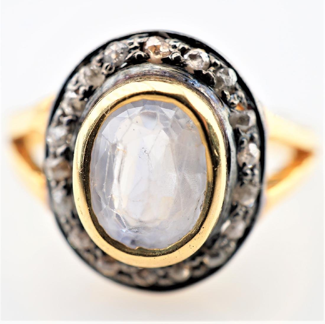 2.39 CT Sapphire Ring w/ Diamonds sz6