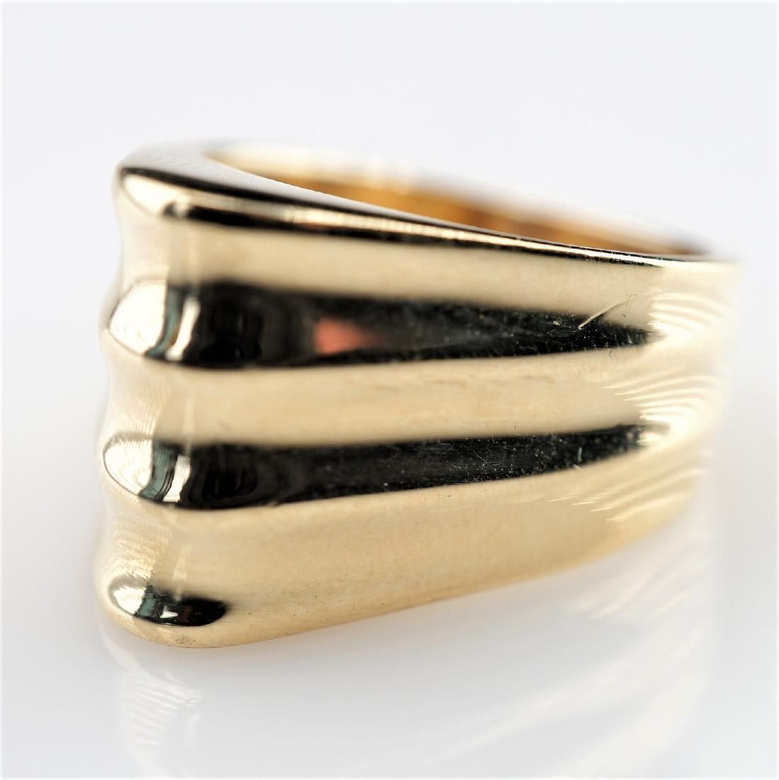 14k YG Mid Century Modern Ring sz7