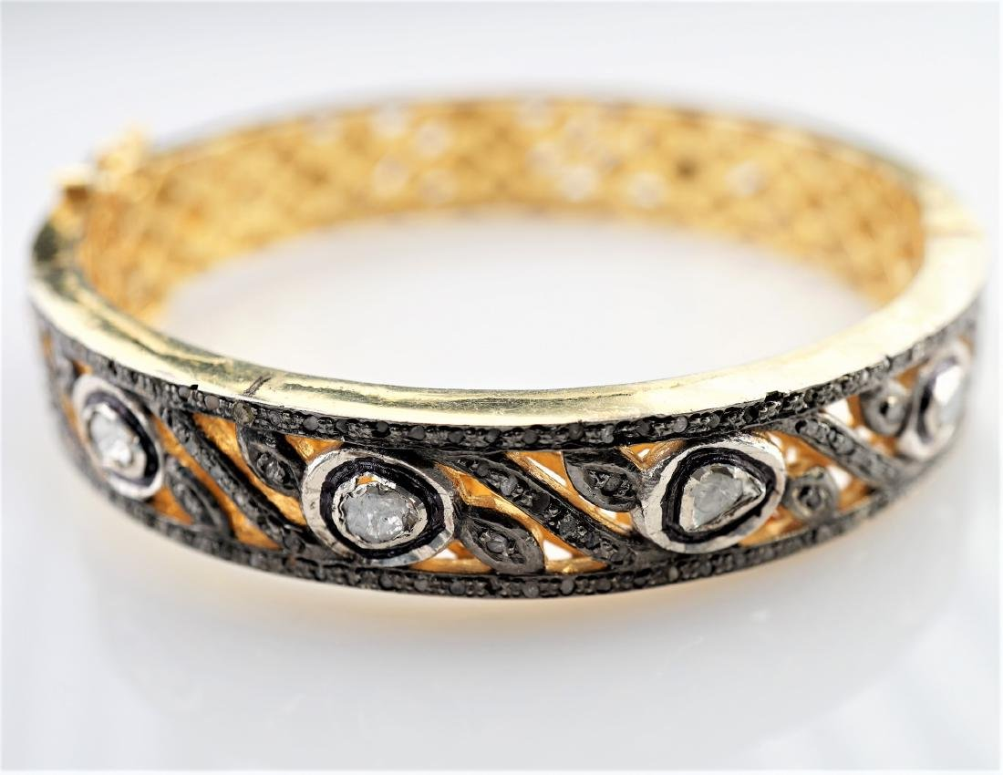 9.15 CTTW Diamond Bangle Bracelet