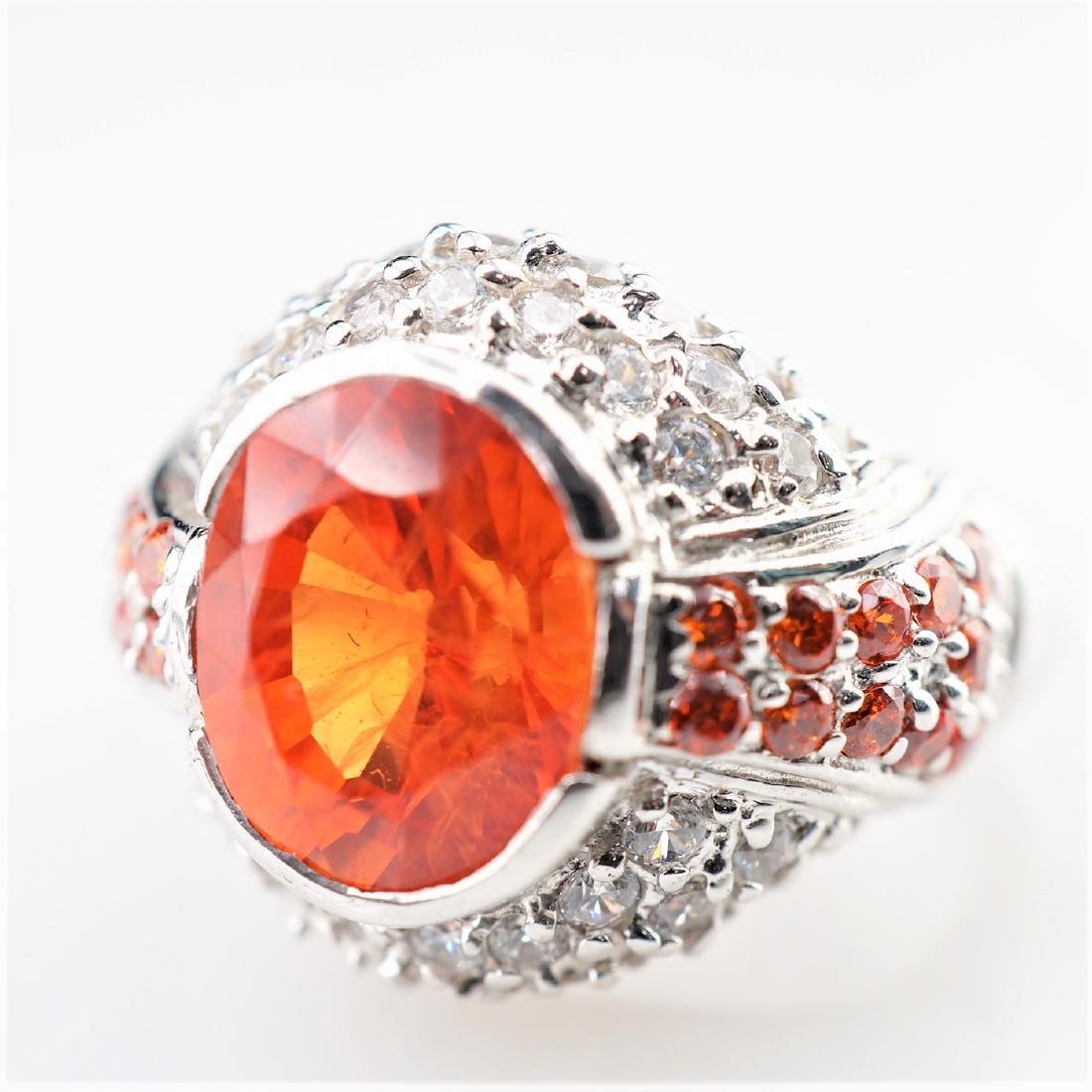 2.50 CT Padparadscha Sapphire Ring sz 6.5