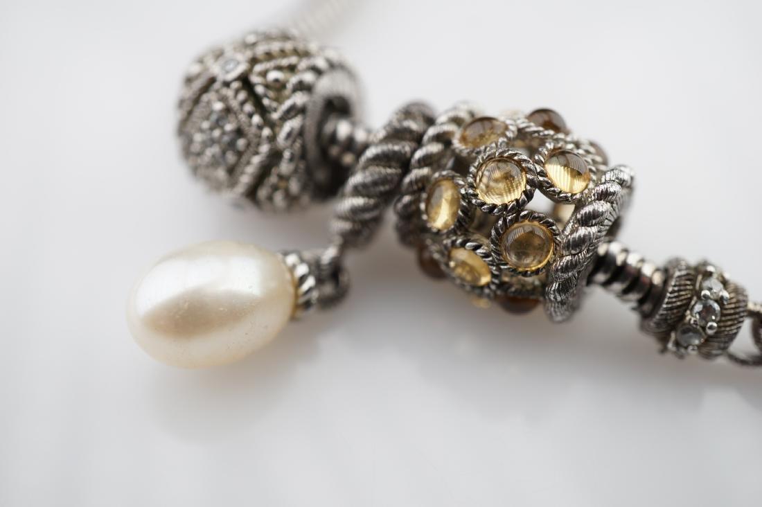Judith Ripka Sterling Silver Charm Bracelet - 2