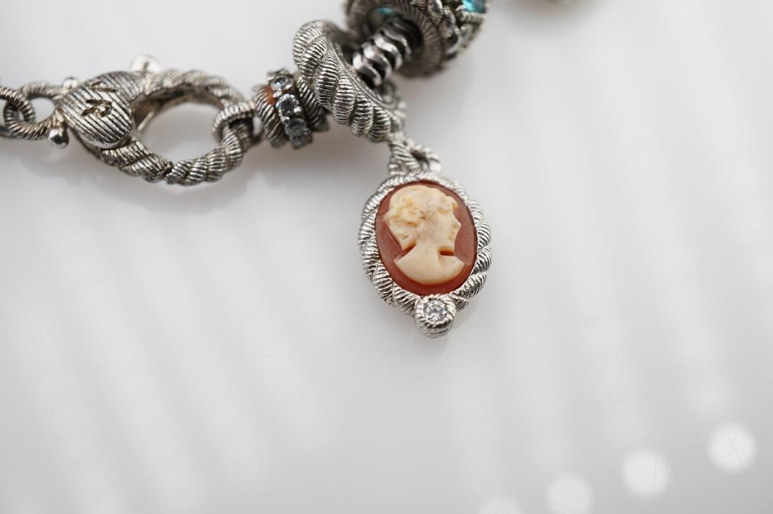 Judith Ripka Sterling Silver Charm Bracelet - 3