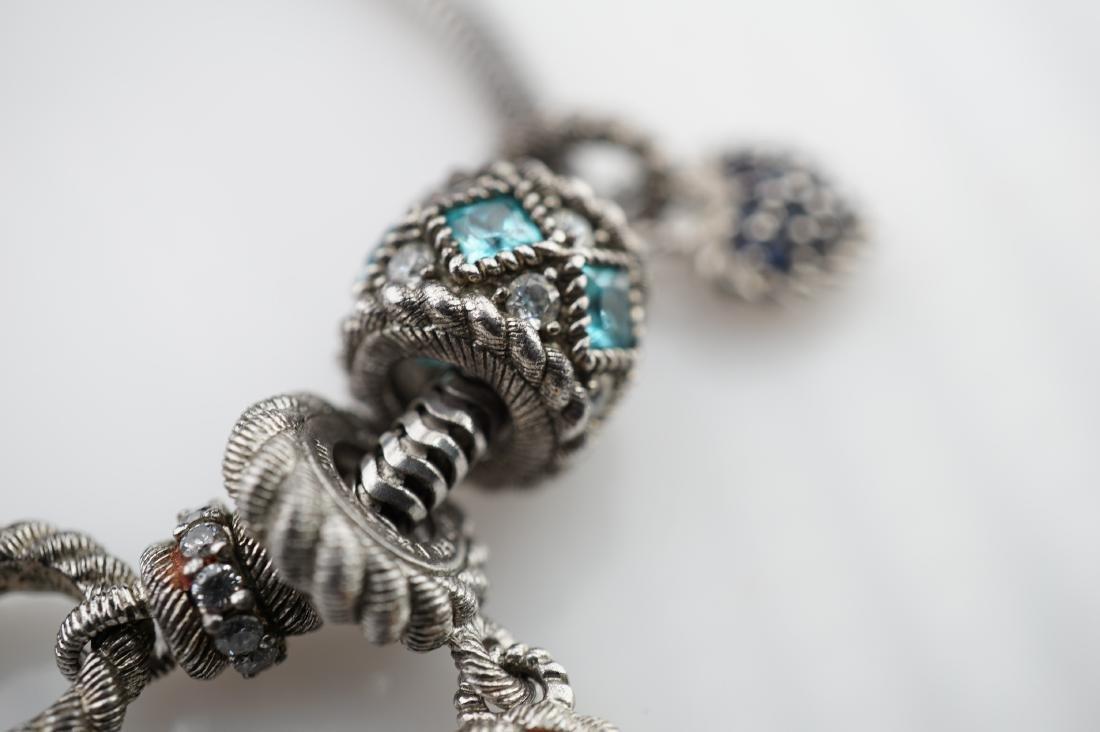 Judith Ripka Sterling Silver Charm Bracelet - 4