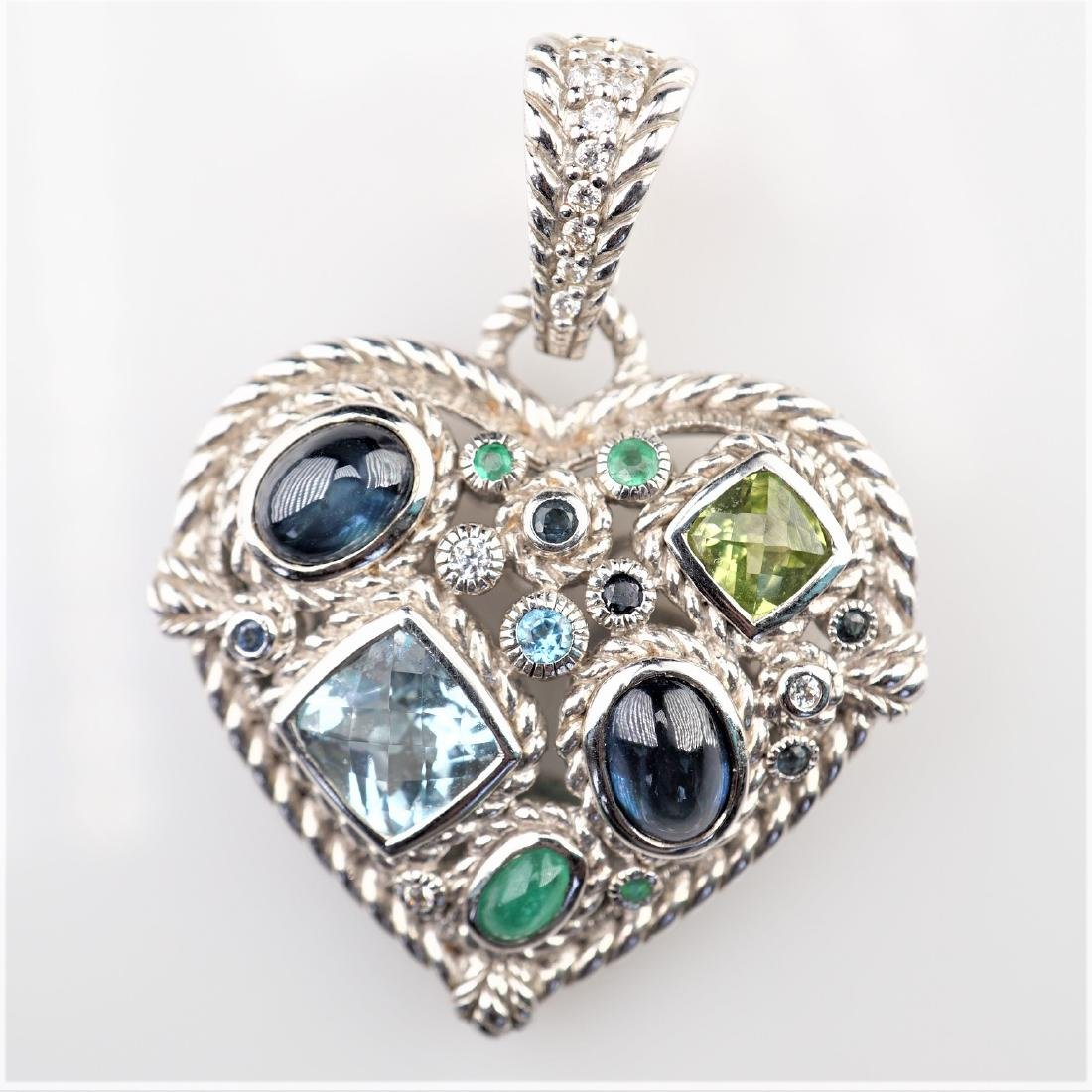Judith Ripka Heart Pendant in Sterling