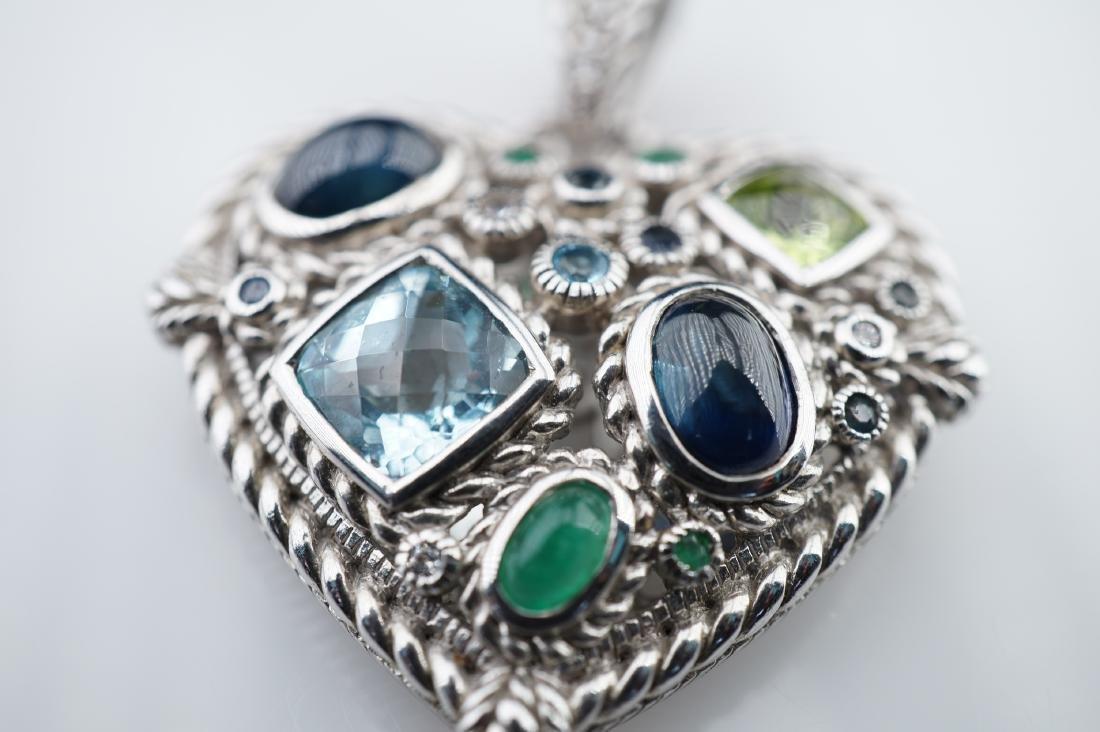 Judith Ripka Heart Pendant in Sterling - 2