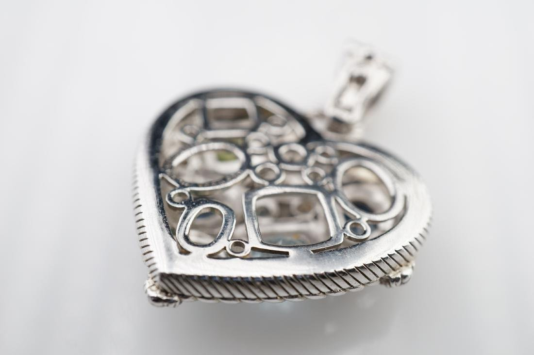 Judith Ripka Heart Pendant in Sterling - 4