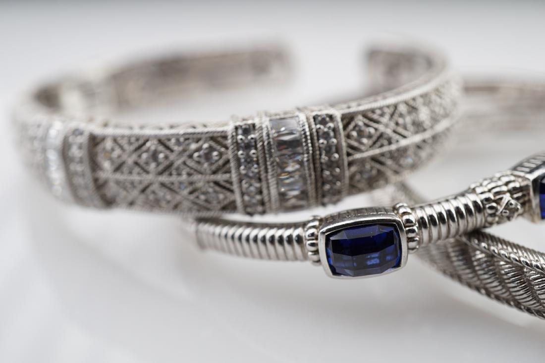 3 Judith Ripka Silver Bracelets - 2