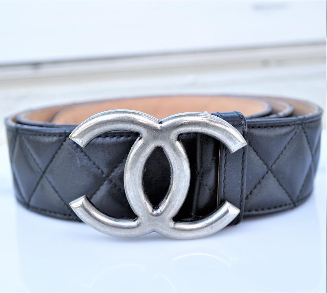 Chanel Quilted Lambskin Leather Belt