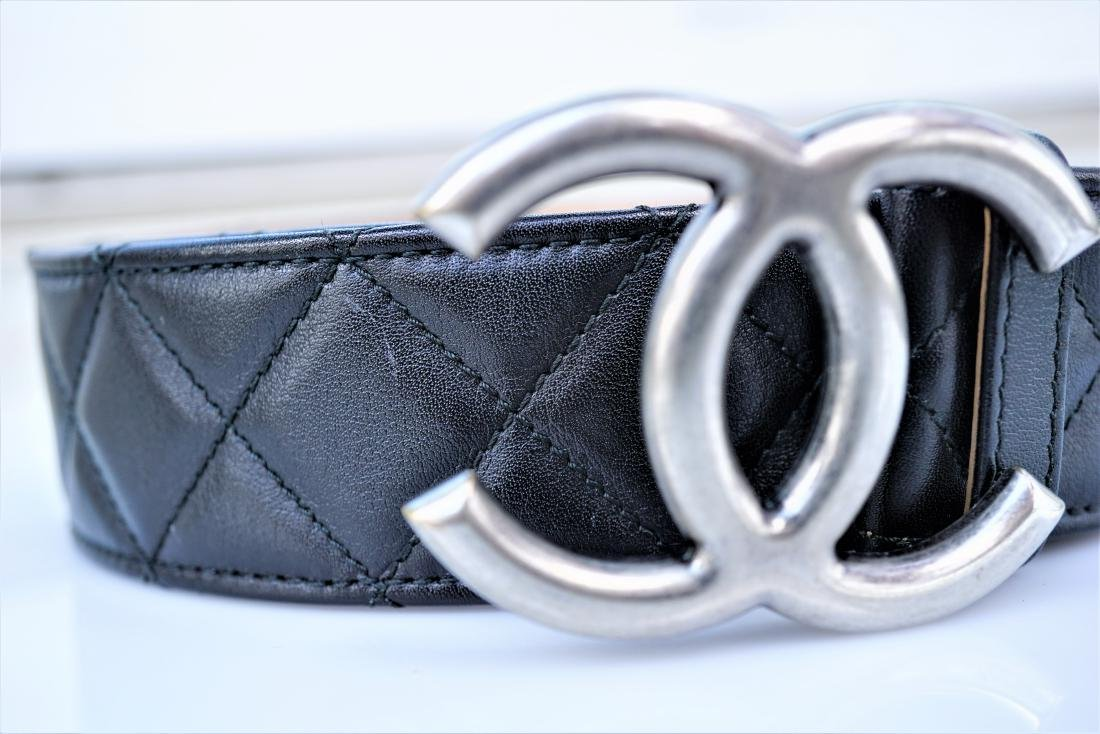 Chanel Quilted Lambskin Leather Belt - 2