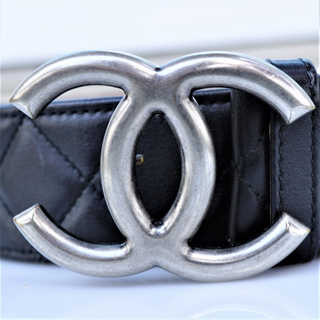 Chanel Quilted Lambskin Leather Belt - 3