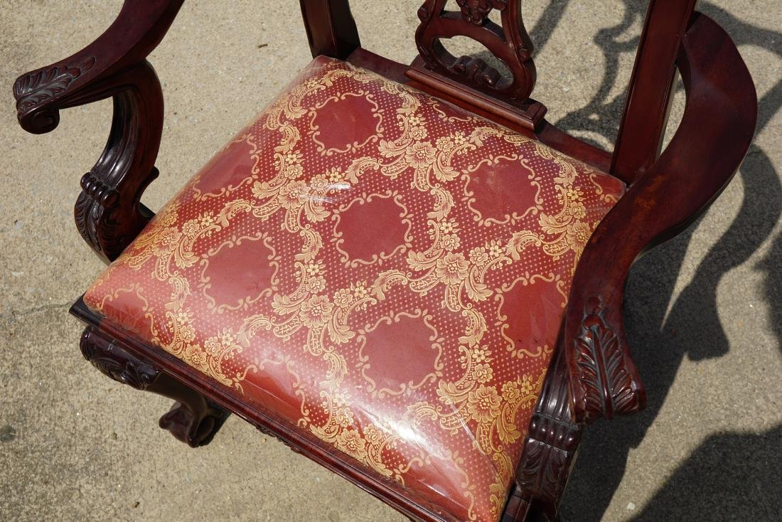 Pair of Chippendale Style Armchairs - 5