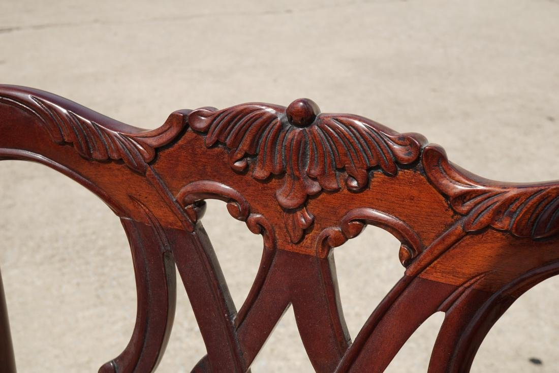 Pair of Chippendale Style Armchairs - 6