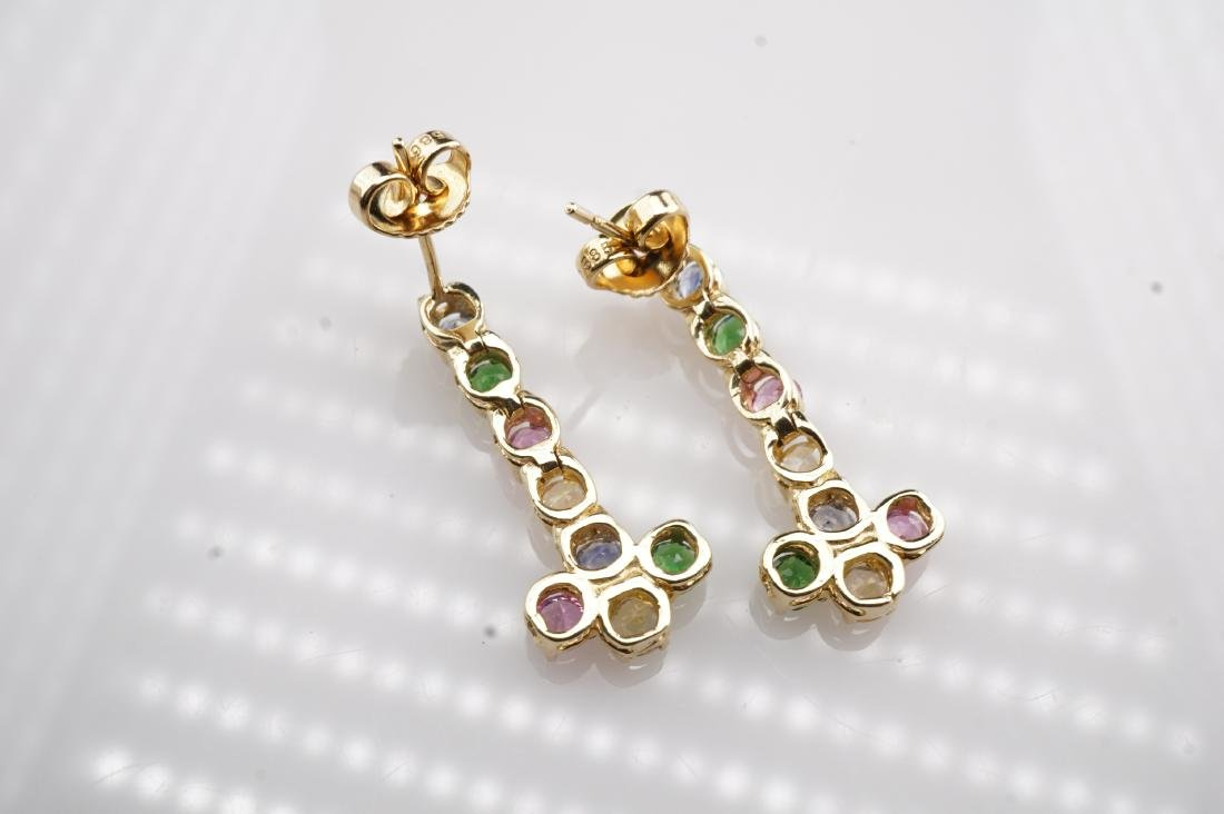 14k YG Multistone Dangle Earrings - 5