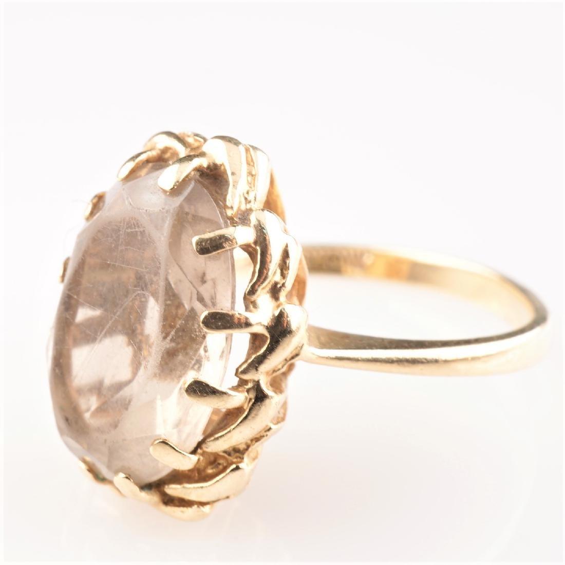 Smoky Quartz Ring in Yellow Gold sz 6